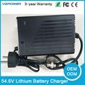 CE ROHS 54.6 V 4.5A 4A 5A Carregador de Bateria De Lítio Inteligente para 48 V Lipo Li-ion Bicicleta Elétrica Ferramenta de Energia Com Refrigeração fã