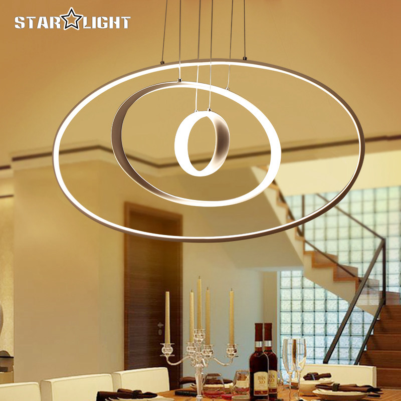 Modern pendant lights for living room dining room Dimming Circle Rings oval aluminum body LED Lighting ceiling Lamp fixtures listening strategies of iranian efl learners with varied test tasks