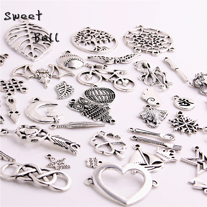 100pcslot mixed antique silver color european bracelets charm 100pcslot mixed antique silver color european bracelets charm pendants fashion jewelry making findings diy charms handmade 715 in charms from jewelry aloadofball Choice Image