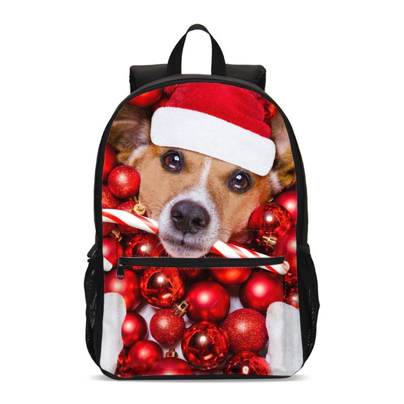 The Best Best Christmas Gift Backpack For Men Women Fashion Luxury Santa Claus Animal Reindeer 3d Printing School Bags Casual Backpack Luggage & Bags