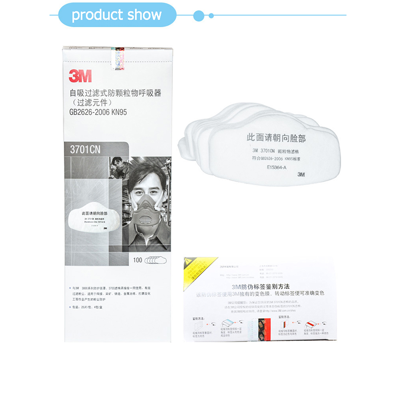 3M 3701CN KN95 Particulate Filter Cotton Dustproof Match 3M 3200 Mask Filter Paper Coal Mine Anti-fog Self-priming Respirator