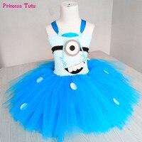 Kızlar Prenses Minion Tutu Elbise Çocuk Bebek Kız Doğum Günü Parti Tül Elbise Cosplay Minion Cadılar Bayramı Kostüm Çocuklar Için Giysi