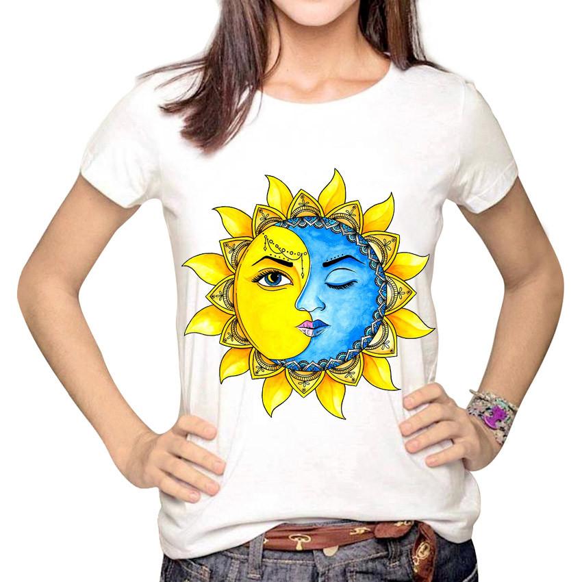 HTB1oeLeLpXXXXb4aXXXq6xXFXXX2 - Women Fashion Hipster Sun and Moon Cartoon Printed Tops