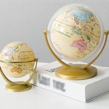 Office-Decoration World-Globe Christmas Home Gift World-Maps-Spinning Desktop Holiday