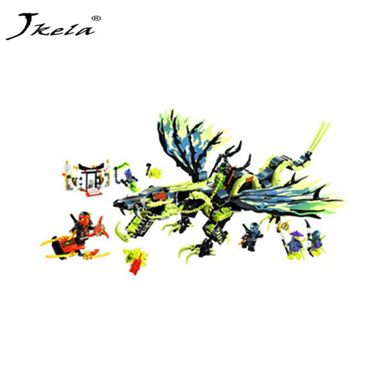 [Jkela] 658pcs Bela New 10400 Ninja Attack of the Morro Dragon Building Kit Blocks Set Compatible With LeGoings Ninjagoingly цена и фото
