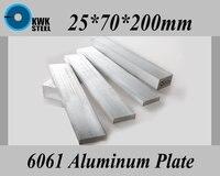25*70*200mm Aluminum Alloy 6061 Plate Aluminium Sheet DIY Material Free Shipping
