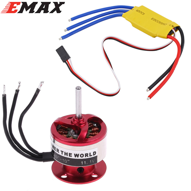 EMAX CF2822 1200KV Outrunner Motor + ESC 30A For Rc Airplane 1pcs emax cf2805 2840kv outrunner brushless motor for rc airplane
