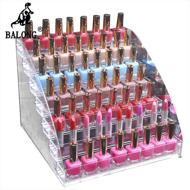 Fashion Detachable 5/6/7Tier Organizer Lipstick Display Stand Holder ...
