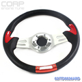 Racing Style 320mm 12.59'' inch Alloy Steering Wheel UNIVERSAL Blue 0026A