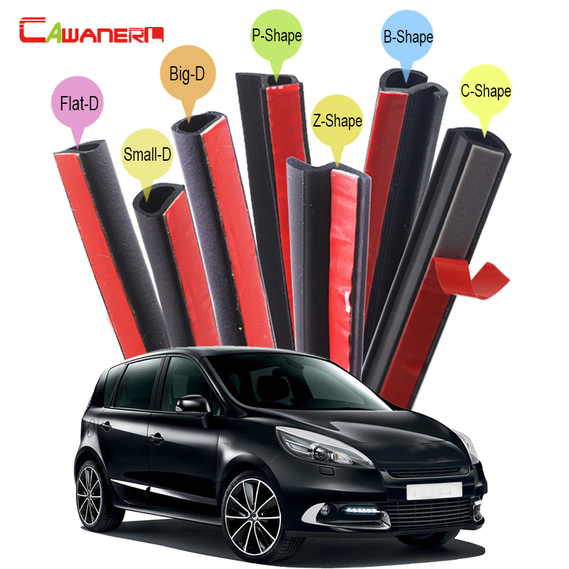 Cawanerl Full Car Rubber Weatherstrip Sealing Strip Kit Seal Edge Trim Noise Control For Renault Modus Clio Vel Satis Scenic 7 16 gx12 aviation circular connector 2 pin 3pin 4pin 5pin 6pin 7pin male plug