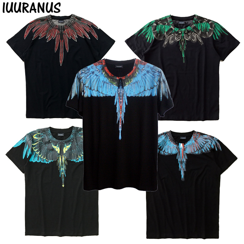 IUURANUS Wings T-Shirt Estate Uomo Donna Italia Marcelo Burlon T-Shirt RODEO RIVISTA MB Top T Moda Marcelo Burlon T-shirt