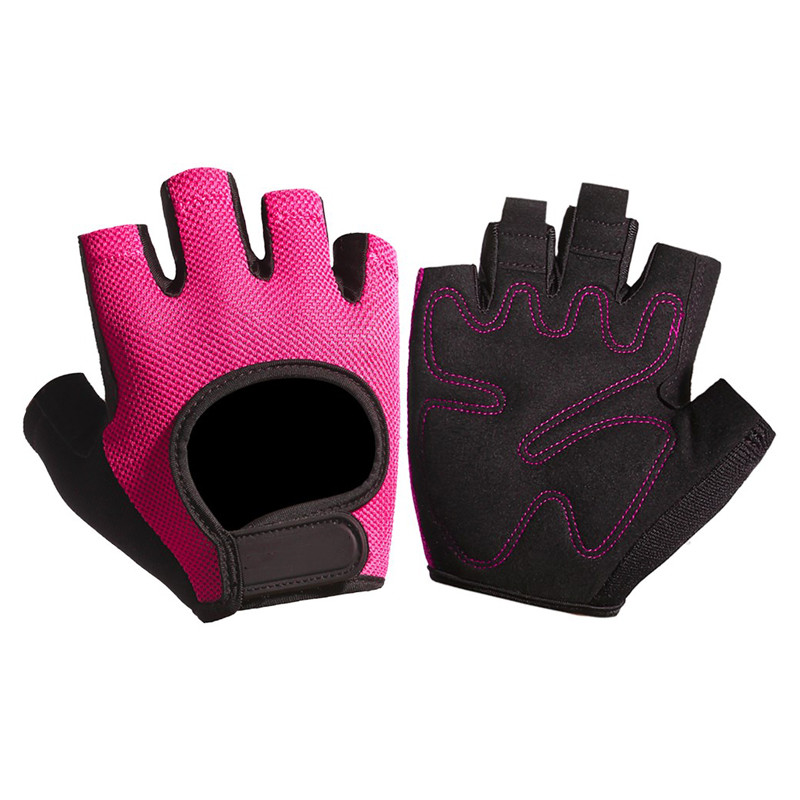New Bicycle Summer Women/'s Half Finger Glove  Pink
