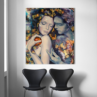Wall Art 100%handmade Oil Painting Figure Picture Couple Lovers Home Decor Wall Pictures For Living Room Canvas Art No Frame