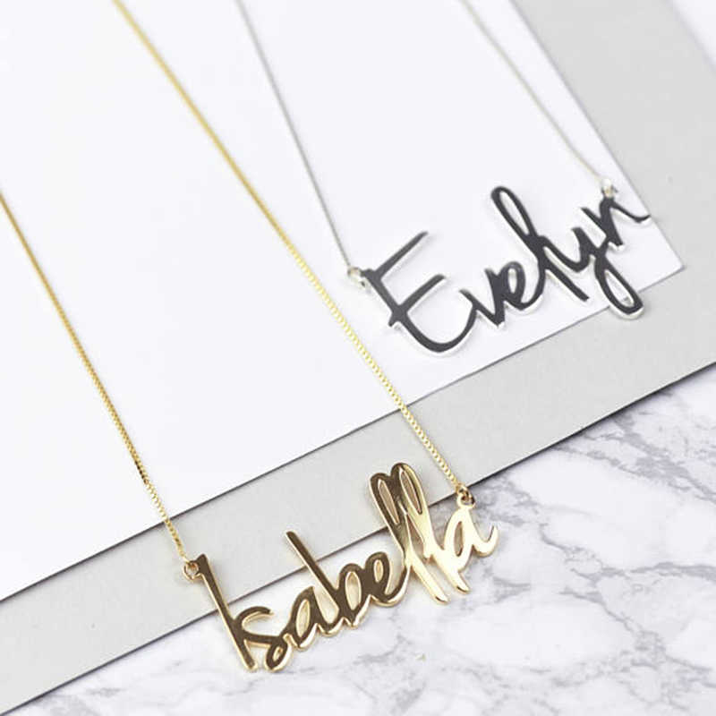 2019 New Fashion Personalized Carrie Style Name Necklace in Silver Custom Made with Any Name Personalized Jewelry Gift For Women