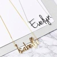 2019 Новое модное персонализированное серебряное ожерелье с именем Кэрри, изготовленное на заказ с любым именем, персонализированное ювелир...