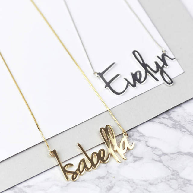 99673cb82 Online Shop Gorgeous Tale Wholesale Personalized Carrie Style Name Necklace  in Silver Custom Made with Any Name Personalized Jewelry Gift | Aliexpress  ...