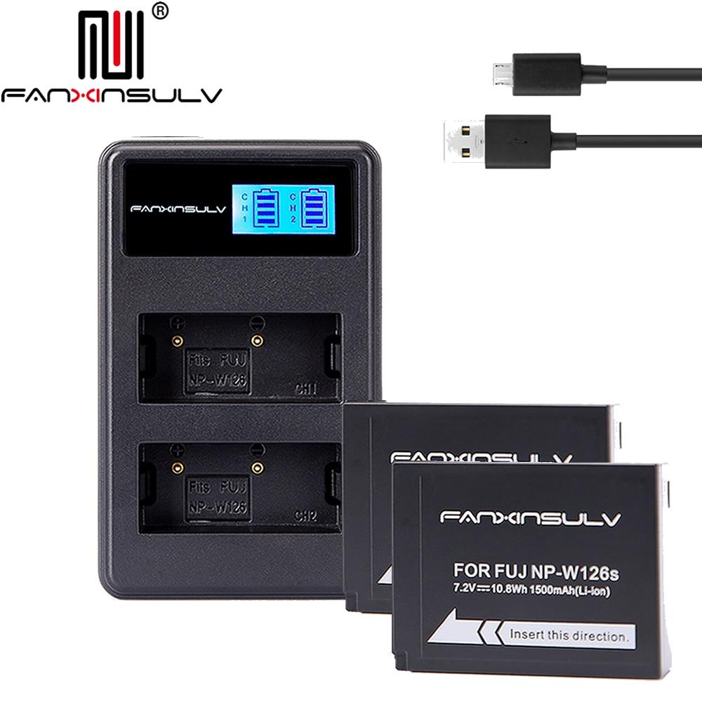 X-t1 2 3 10 20 100 X 100 F äSthetisches Aussehen Xa5 3 Hs30 33 35 50exr Xe1 2 S 3 Konstruktiv 2x Np W126 Np-w126s Batterien & Lcd Ladegerät Für Fujifilm Fuji X-pro1 2