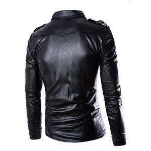 Image 2 - The Walking Dead Negan Black White PU Leather Jacket Coat Men Adult Halloween Cosplay Costume Winter Spring Autumn Coat