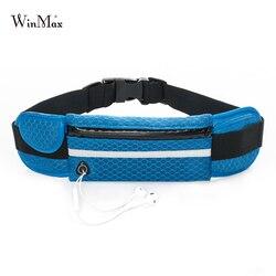 Многофункциональная поясная сумка для бега, спортивные дышащие сумки для музыки с отверстием для гарнитуры, спортивные сумки для смартфоно...