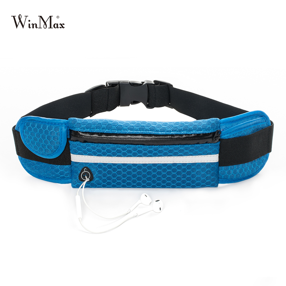 New Quality Multifunction Running Waist Bag Breathable Bags Sport Packs For Music With Headset Hole-Fits Smartphones Sports Bags