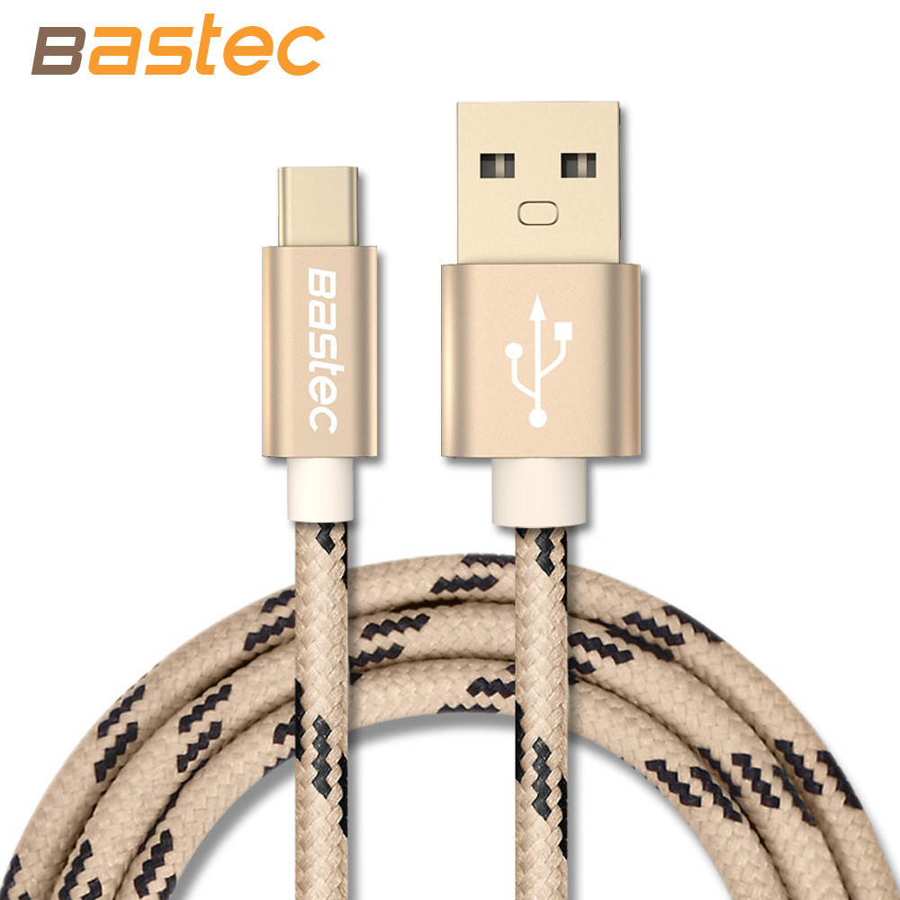 USB Type C Cable ,Bastec USB Type-C Gold-plated Connector Braided Wire USB C Cable for MacBook Xiaomi 4C / Letv / Oneplus