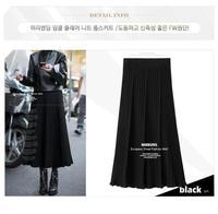 Office Lady Solid A line Skirt Long Skirt High Waist Casual Pastel Jupe Femme Plus Size Feminina Loose Faldas Mujer Moda 2019