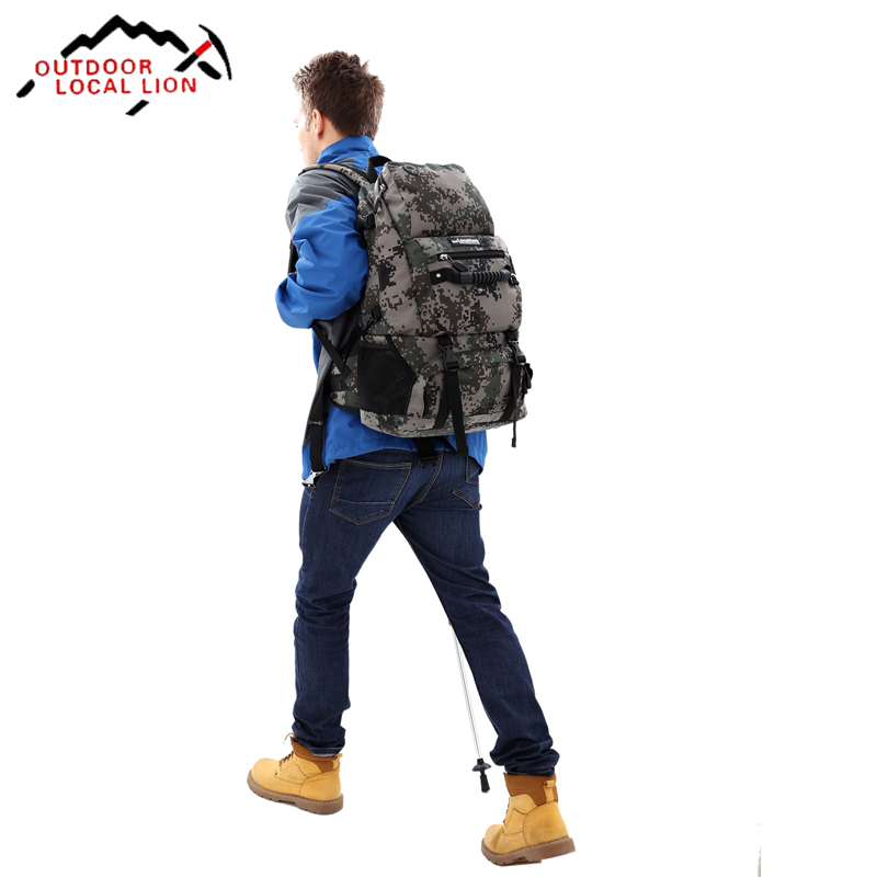 Sport Bag Backpack Outdoor Climbing Rucksack Waterproof Mountaineering Hiking Backpacks Molle Camping Bag 35L 8l naturehike ultralight outdoor single shoulder bag multifunctional climbing backpack waterproof sport bag