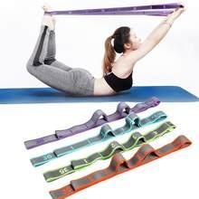 Yoga puxar cinta cinto poliéster látex elástico latin dança alongamento banda loop yoga pilates ginásio fitness exercício faixas da resistência