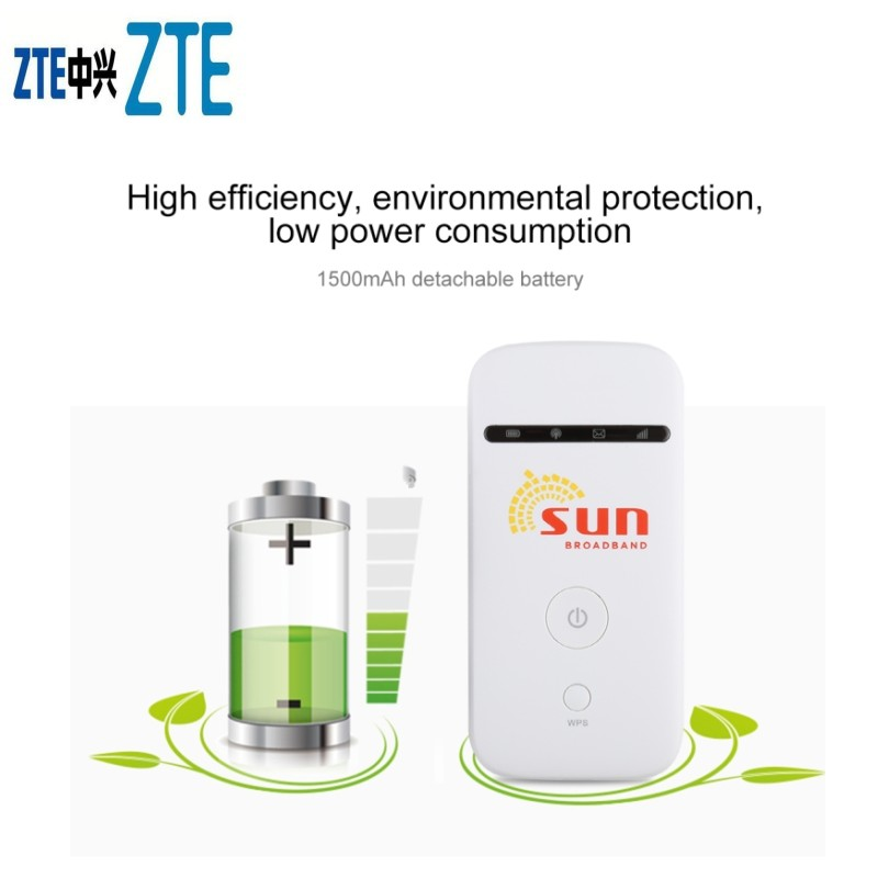 Original Unlocked <font><b>ZTE</b></font> MF65 MF65M HSPA+ 21.6Mbps 3G 2100MHz Wireless Router Pocket WiFi Mobile Broadband PK <font><b>MF60</b></font> MF61 MF62 image