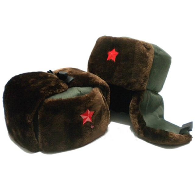 Зима ветрозащитный тёплый утолщение ушанки шапки для женщины мужчины 5 Star лэй фэн шапка-ушанка