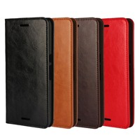 Factory Price Luxury For Google Huawei Nexus 6P Genuine Cowhide Leather Flip Case Cover Wallet With