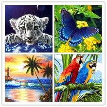 3d diy Diamond Cross Stitch Kit  Embroidery Flower Animal Landscape Mosaic Pattern Picture