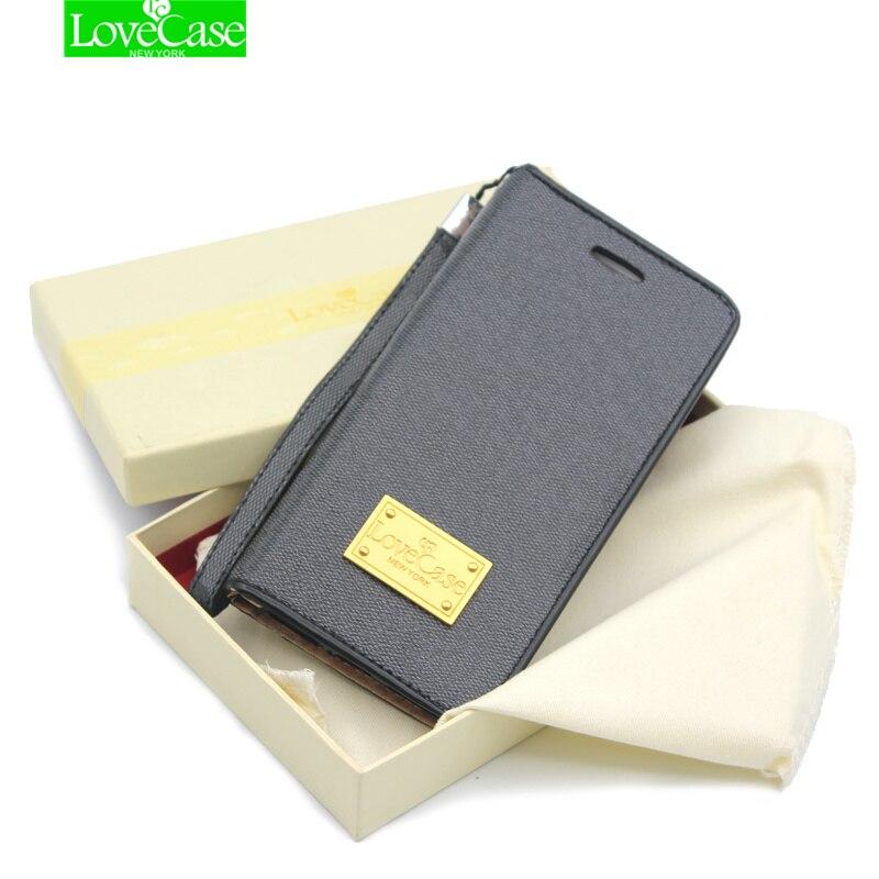 imágenes para 6 S 7 Más Imanes Caja de Lujo del Cuero para el iphone 6 6 S 7 Plus 5S Diseño Flip casos de la cubierta de Folio teléfono bolsa & case coque