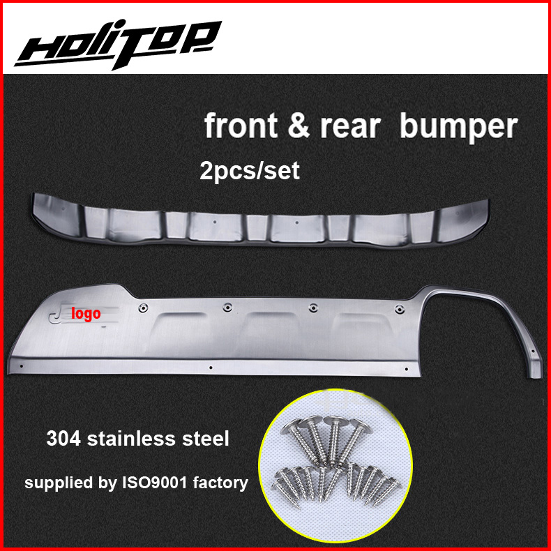 hottest for Jeep Renegade 2015 2018 304 stainless steel skid plate bumper protector bull bar necessary