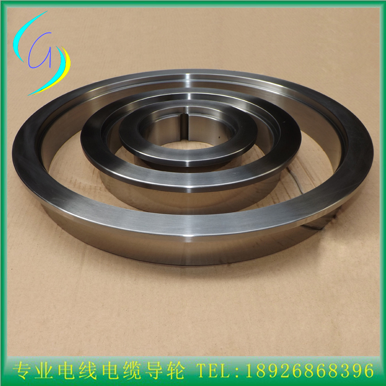 Middle wire drawing machine copper wire drawing parts    tungsten carbide coated 45# steel ring/steel rim tungsten carbide steel ring with wire drawing application