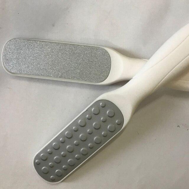1 pièce râpe pour pieds fichier de talon pied pédicure grattoir luxe acier inoxydable gommage des pieds manucure ongles outils