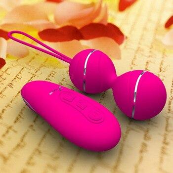 7 vitesses télécommande Kegel balle vaginale exercice serré oeufs vibrants boule de Geisha Ben Wa balles double vibrateur Sex Toy pour les femmes