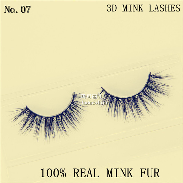Free shipping new style 1 pair 100% 3D real mink fur natural soft strip lashes hand made makeup beauty mink eyelashes