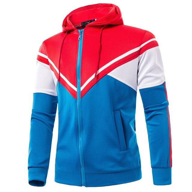 New Sport Jacket Men 2015 Fashion Hooded Design Mens Slim Fit ...