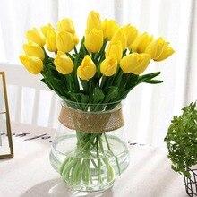 Tulip Artificial Flowers for Wedding Decorative Dried Fabric Silk Flower Vase Garland Vine