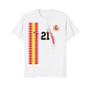 2019 letnia moda Retro hiszpania niemcy Soccers Jersey - Deutschland piłkarz T-Shirt T Shirt