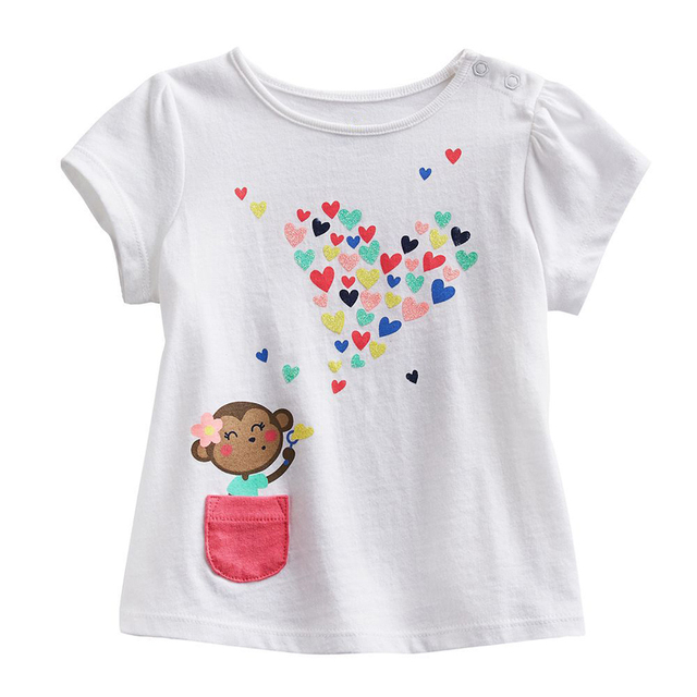 f98ab256 2016 New Kids T Shirt Baby Clothes Boys Summer O Neck T shirts Cartoon  Monkey Girls Short Sleeve Tops Children Cotton Clothing-in T-Shirts from  Mother ...