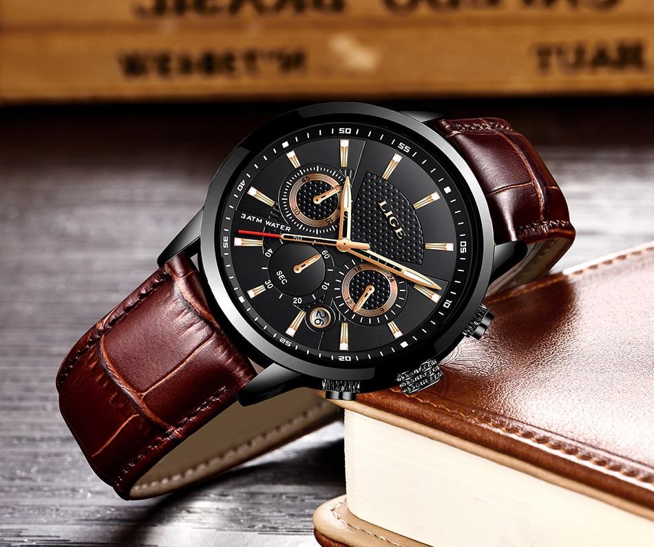 HTB1oeOYaL1H3KVjSZFHq6zKppXaN LIGE 2020 New Watch Men Fashion Sport Quartz Clock Mens Watches Brand Luxury Leather Business Waterproof Watch Relogio Masculino