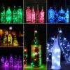 1 pièces solaire 2M LED en forme de liège 20 LED nuit fée chaîne lumière vin bouteille lampe fête célébration cadeau liège lumière 7 couleurs