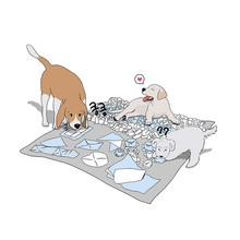 HEYPET Dog Nose Work Mat Sniff Pads High Quality Hangmade Dog Mat Training Play Feeding Mats