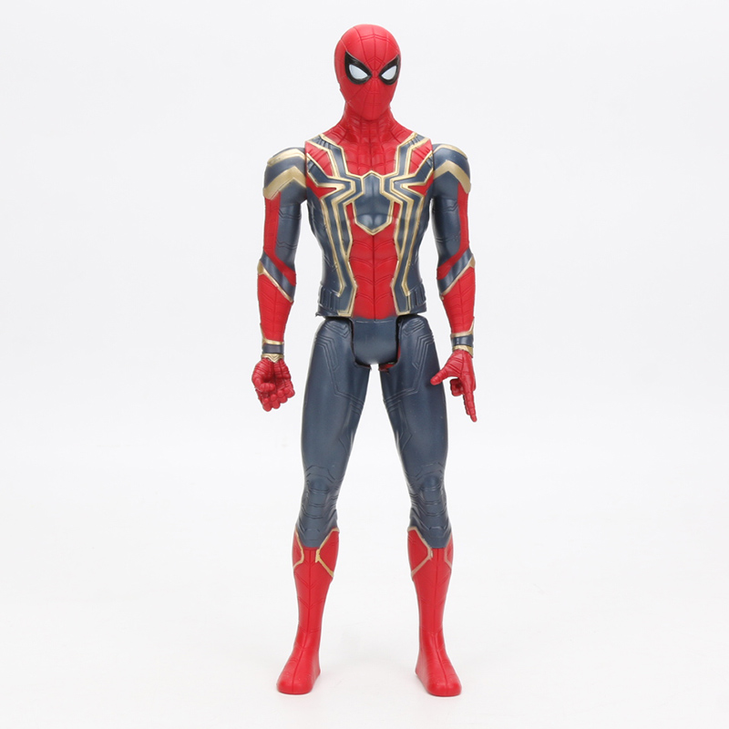 30cm Iron Spider Pvc Action Figure Titan Hero Series Marvel Toys The Avengers Figures Ironman Super Hero Collection Model Dolls #2