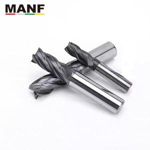 Image 5 - MANF freze kesiciler HRC50 4mm 6mm 8mm 10mm katı karbür EndMills Tungsten karbür ucu frezeleri Mill kesici freze