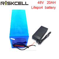 2000 times Long cycle life lithium iron phosphate LiFePO4 48v 20Ah lithium Battery pack for Ebike scooters gilf cart