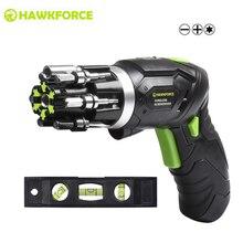 HAWKFORCE 3.6Vไฟฟ้าไร้สายไขควงเจาะMulti Function RechargeableในตัวBit Miniไขควงเครื่องมือ
