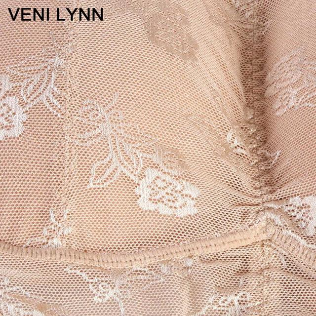 VENI LYNN Lace Cotton Padded Panties Embroidery Briefs With Two Removable Buttocks Enhancers – Beige or Black Color